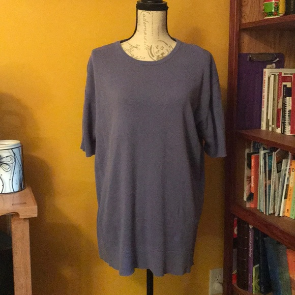 Eddie Bauer Sweaters - Beautiful periwinkle color short-sleeve sweater